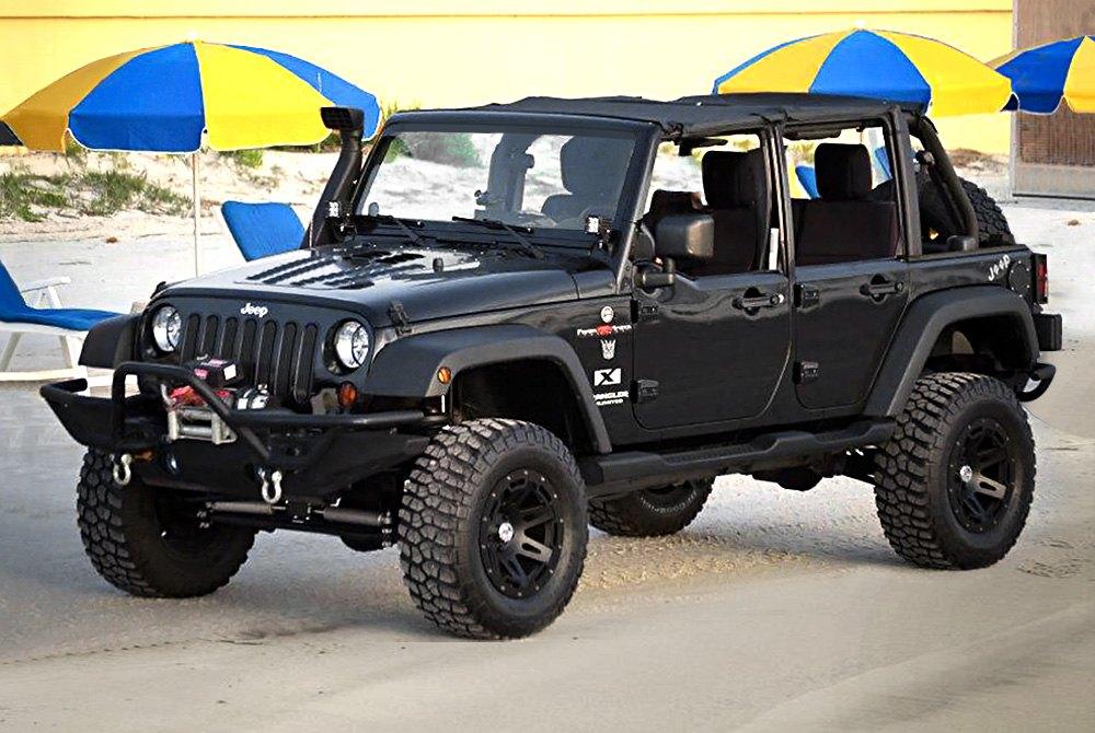 Wranglerrugged Ridge Xhd Satin Black With Rim Protector On Jeep