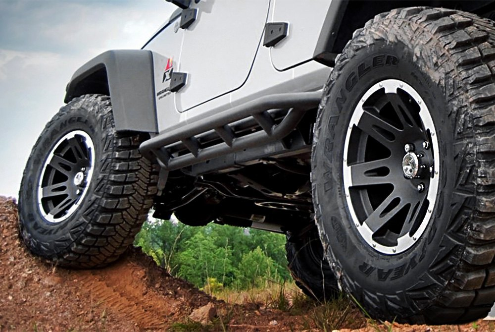 RUGGED RIDGE® XHD Wheels - Satin Black with Machined ...