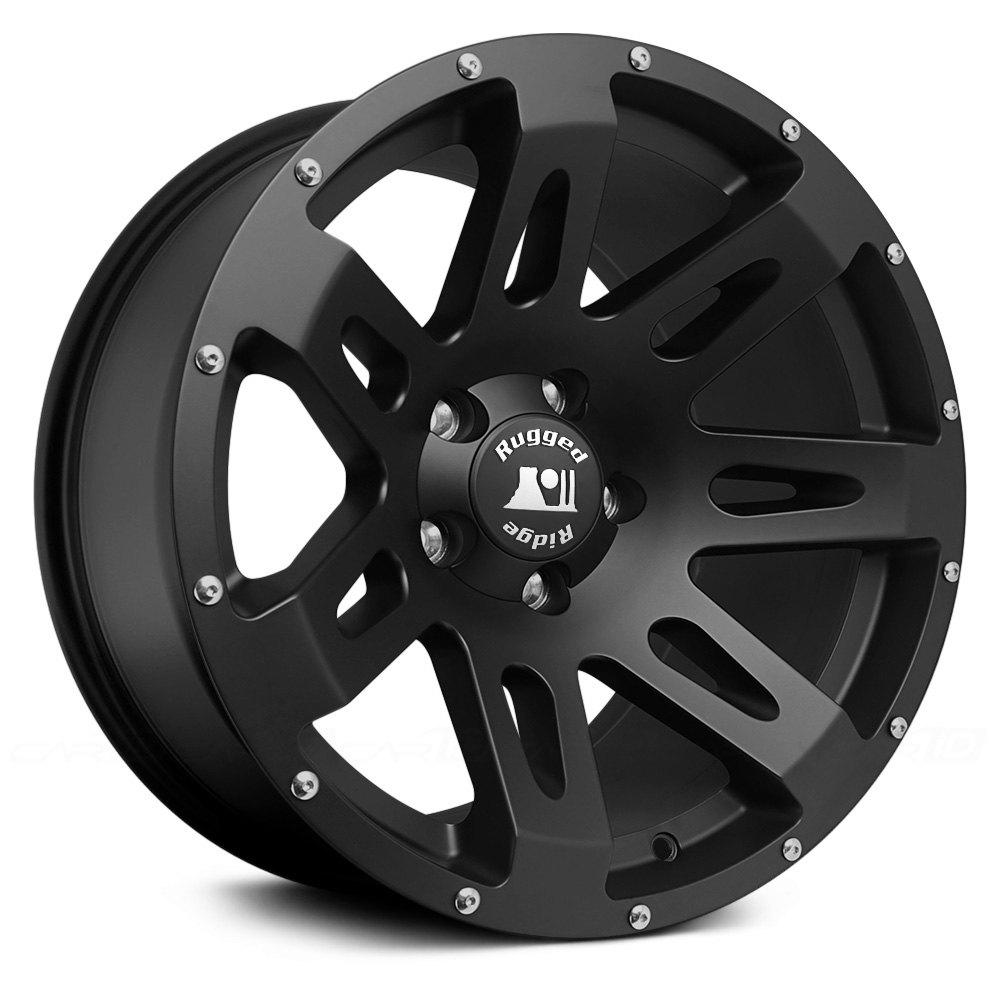 RUGGED RIDGE® XHD Wheels - Satin Black with Modular Cap Rims