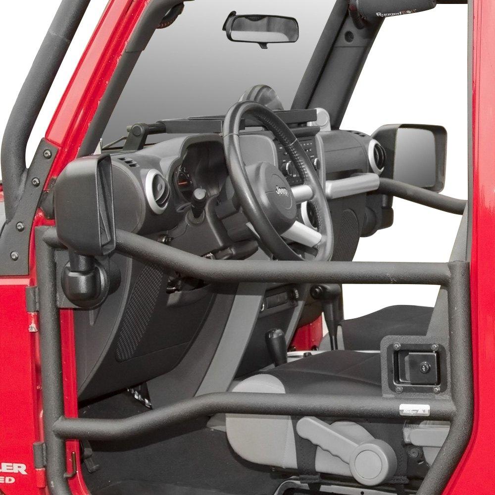 Rugged Ridge® - Black Powder Coat Steel Front Tube Doors & Rugged Ridge® 11509.10 - Black Powder Coat Front Tube Doors