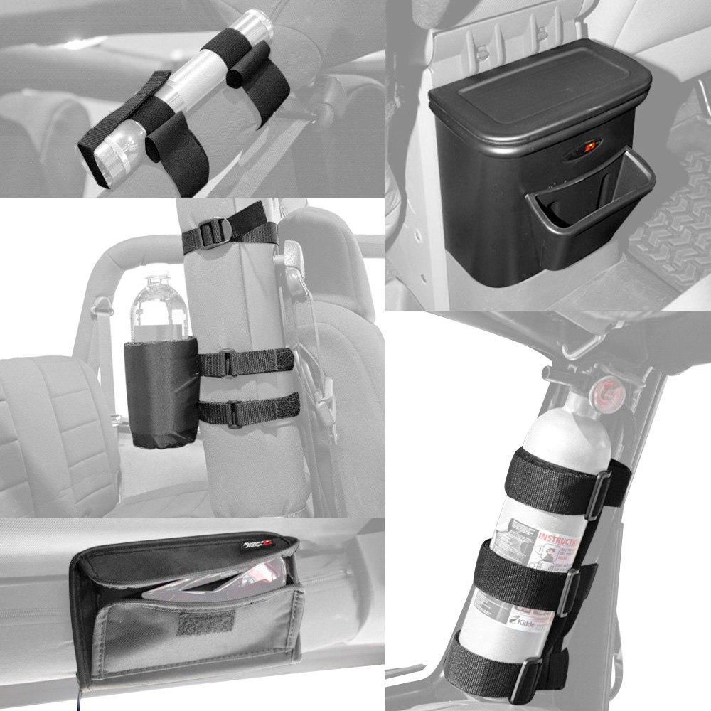 Rugged ridge jeep wrangler 2011 interior storage accessories for Jeep wrangler interior accessories