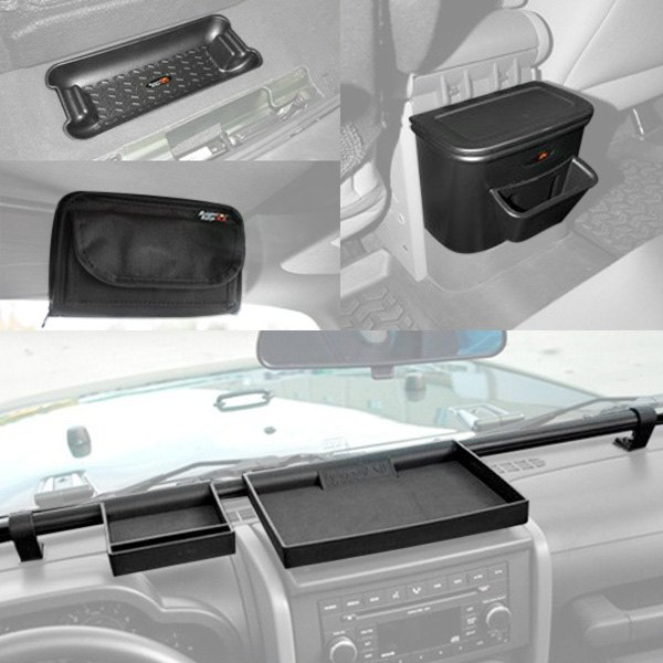 rugged ridge jeep wrangler 2010 interior storage accessories. Black Bedroom Furniture Sets. Home Design Ideas