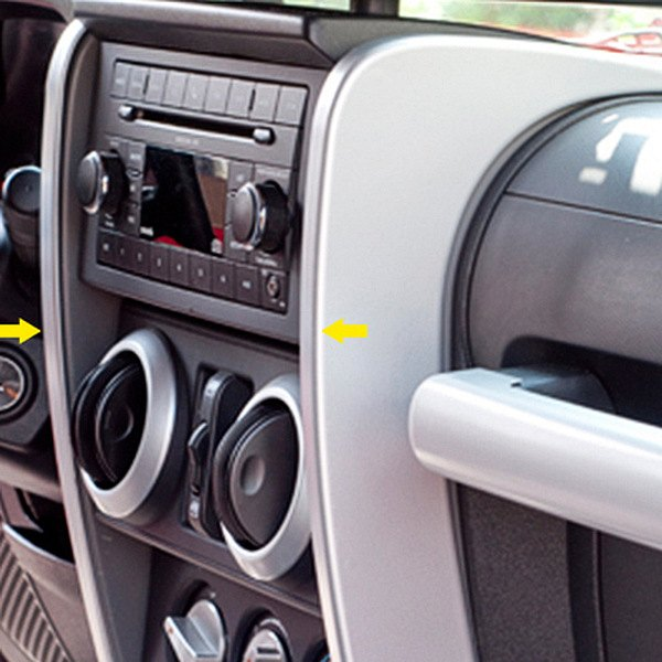 Interior Trim Pieces : Rugged ridge jeep wrangler  center dash accent
