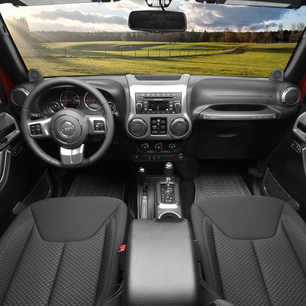 Rugged ridge powdercoated painted interior trim accent kit ebay for Jeep wrangler interior accessories