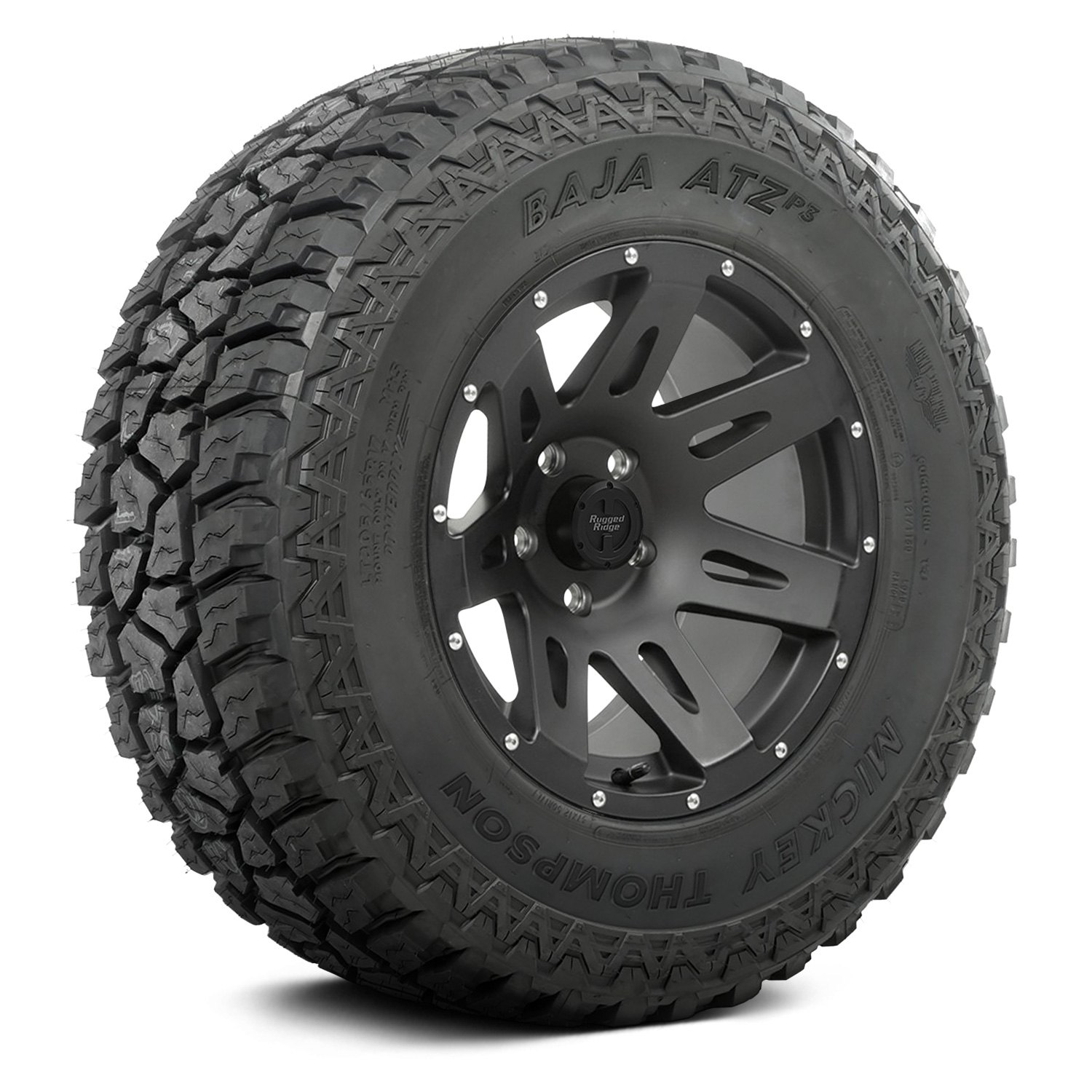 rugged ridge 18 7 spokes xhd black satin wheels and tires package ebay. Black Bedroom Furniture Sets. Home Design Ideas