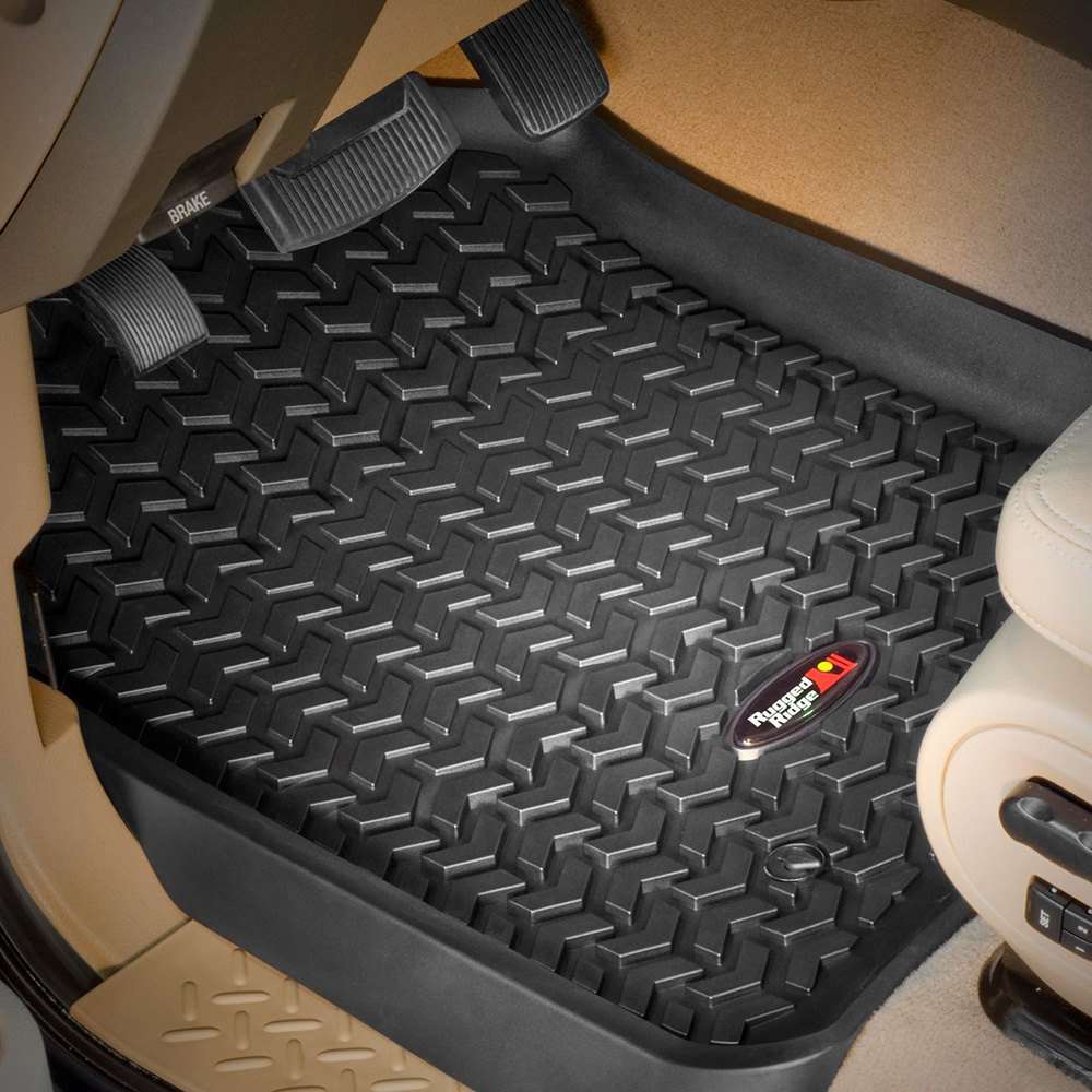 Rubber floor mats nissan titan - Image May Not Reflect Your Exact Vehicle Rugged Ridge All Terrain 1st Row