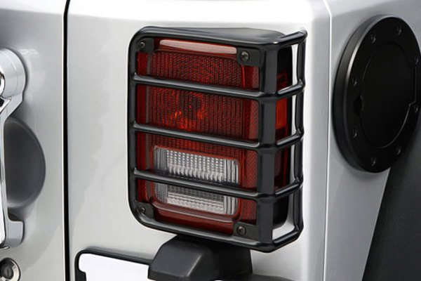 Guardsrugged Ridge Euro Style Black Tail Light Guards