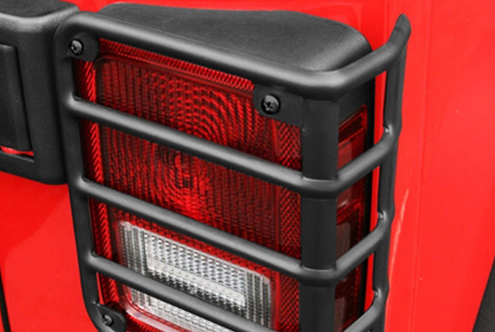 rugged ridge jeep wrangler 2007 2017 euro style tail light guards. Black Bedroom Furniture Sets. Home Design Ideas