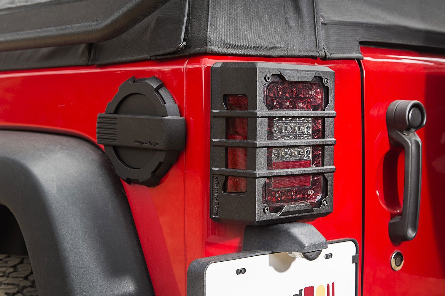 Guardsrugged Ridge Elite Series Black Tail Light Guards Installed