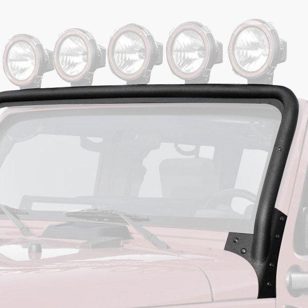 rugged ridge jeep wrangler 2007 2017 windshield frame mount. Black Bedroom Furniture Sets. Home Design Ideas