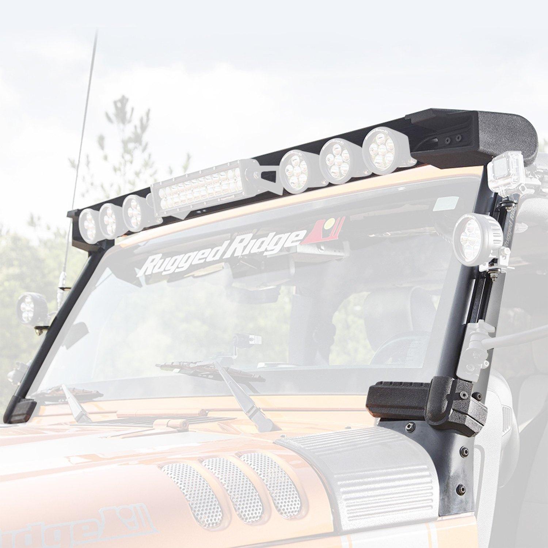 Rugged Ridge® 11232.50 - Elite Fast Track Aluminum 8-Tab Windshield ...