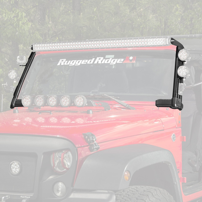 Rugged Ridge® - Jeep Wrangler 2007 Elite Fast Track 8-Tab Windshield ...