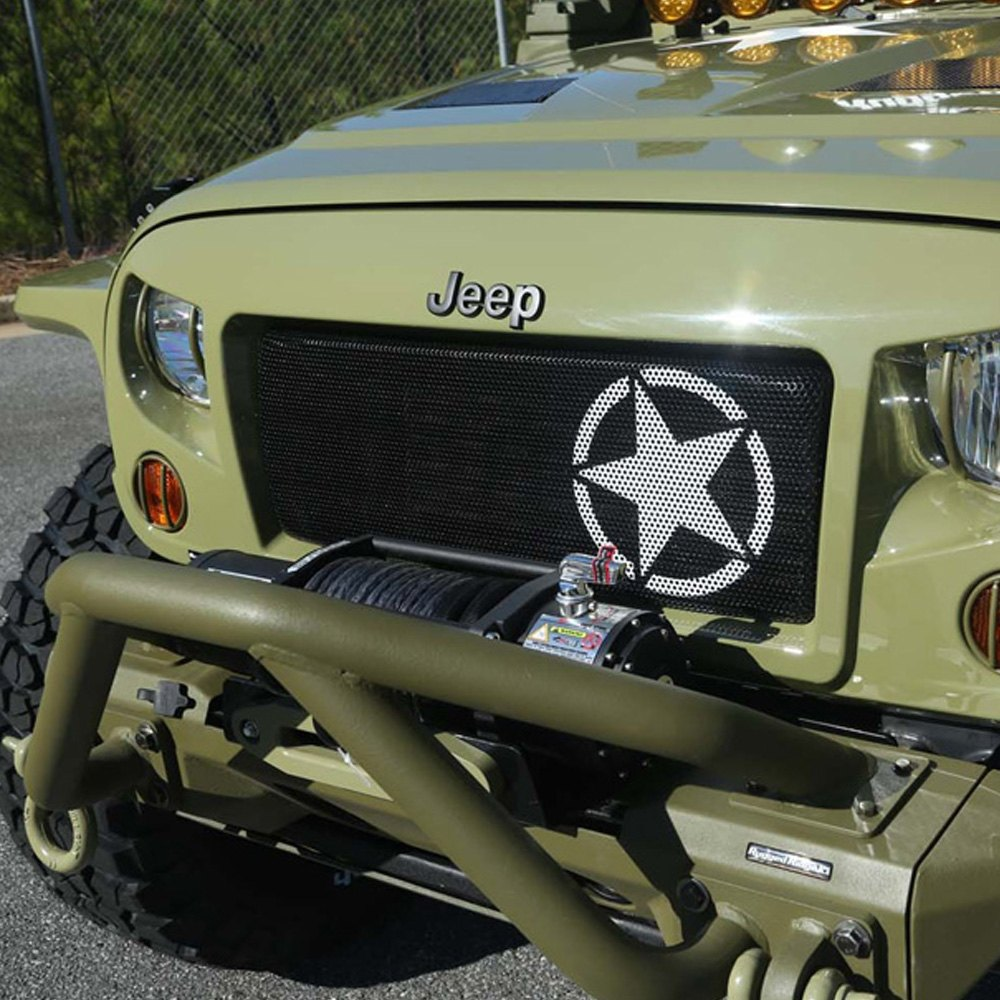 5 Star Jeep Dealers Colorado: Jeep Wrangler 07-17 Grille Kit Spartan Series Military