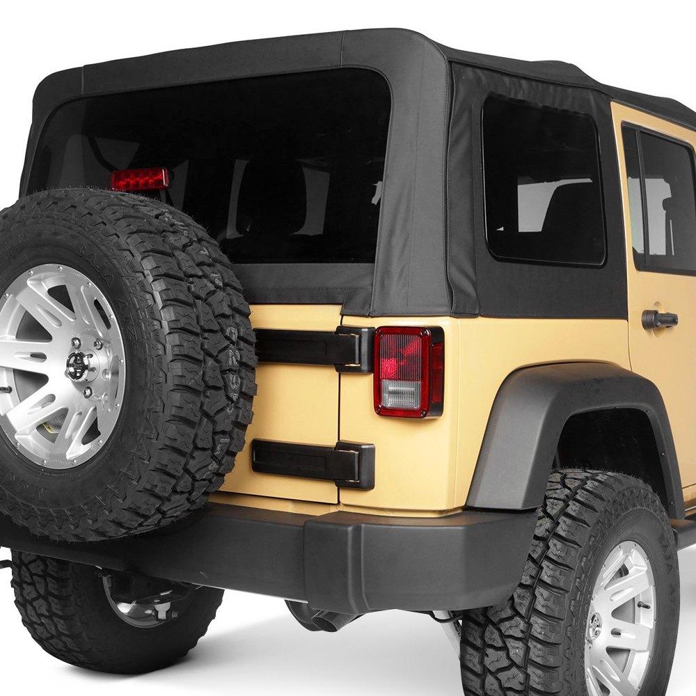 rugged ridge jeep wrangler 2010 2017 montana black diamond soft top. Black Bedroom Furniture Sets. Home Design Ideas