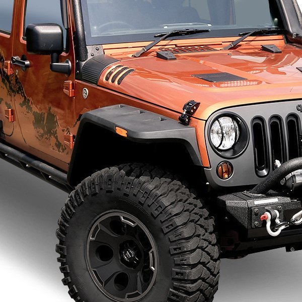 1999 Jeep Wrangler Fenders: Hurricane Textured Black Front And Rear