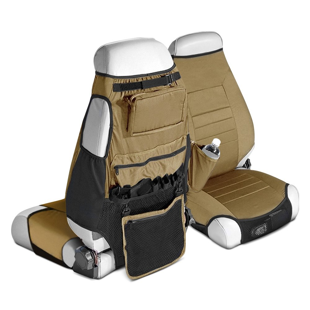 Rugged Ridge Neoprene Brown Seat Protector W Storage