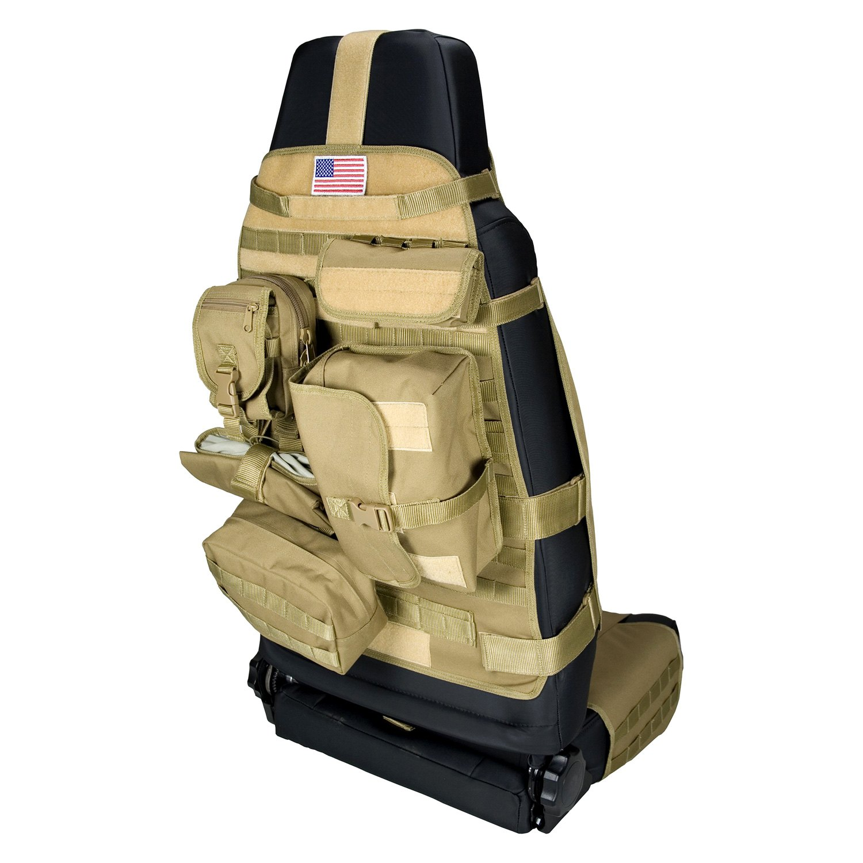 Rugged Ridge 174 13236 04 1st Row Tan Cargo Seat Cover
