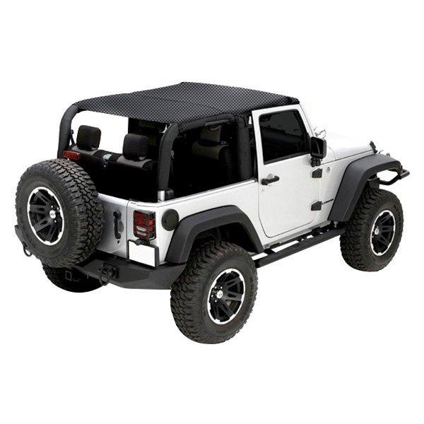 Jeep Wrangler Top View >> Rugged Ridge® - Jeep Wrangler 2010 Full Cover Mesh Island ...