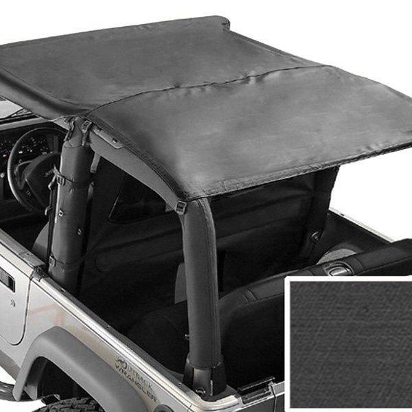 Toprugged Ridge Black Denim Header Roll Bar Top