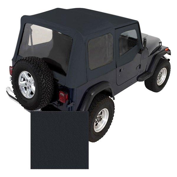 For Jeep Wrangler 88-95 XHD Replacement Charcoal Soft Top