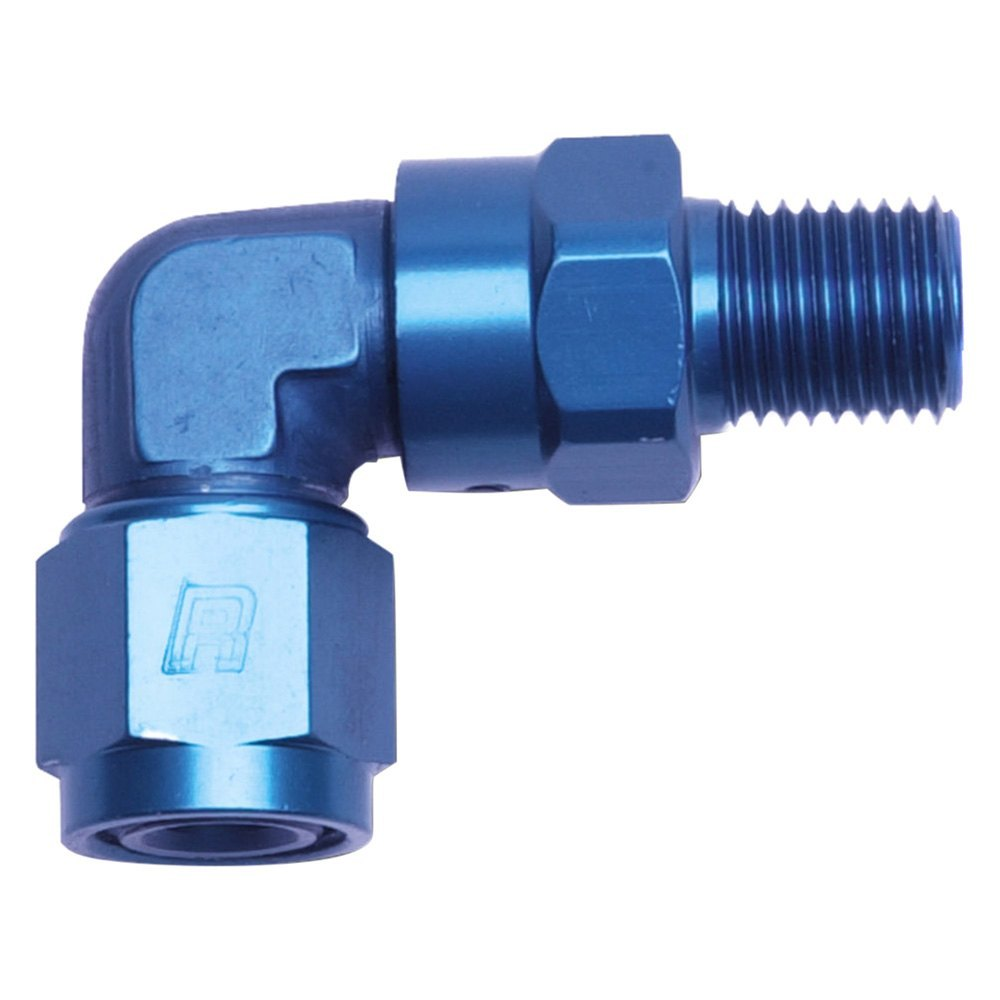 Russell ° female an to male swivel npt adapter