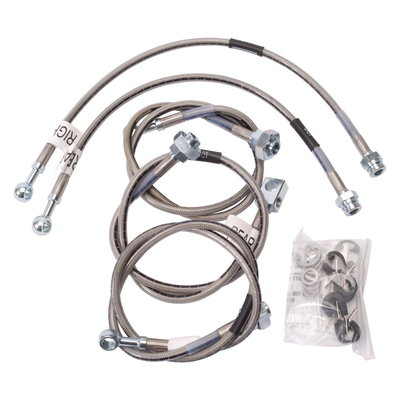 5 Pcs 01-07 GM 2500HD//3500 Braided Stainless Brake Hose Kit