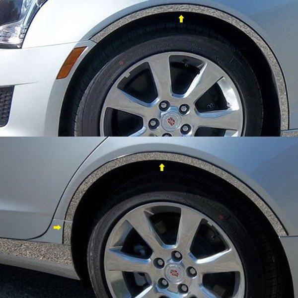 Cadillac ATS 2014 Polished Fender Trim