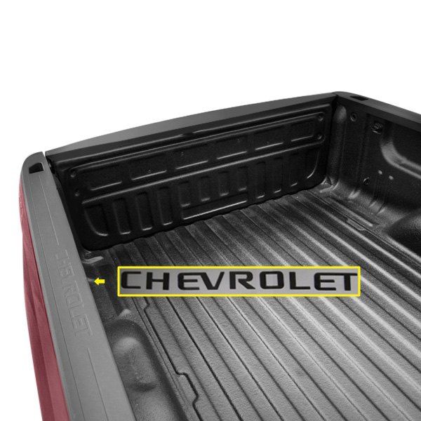 Saar sgr54181 chevy silverado crew cab short bed 2016 for Chevy chrome letters