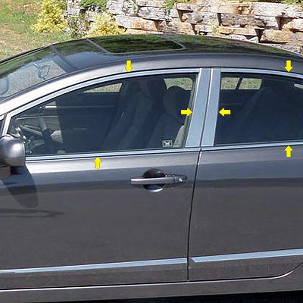 Service manual how to remove 2004 honda pilot exterior for 2001 honda civic window trim