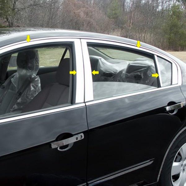 Saa Nissan Altima 2007 Polished Window Trim Package