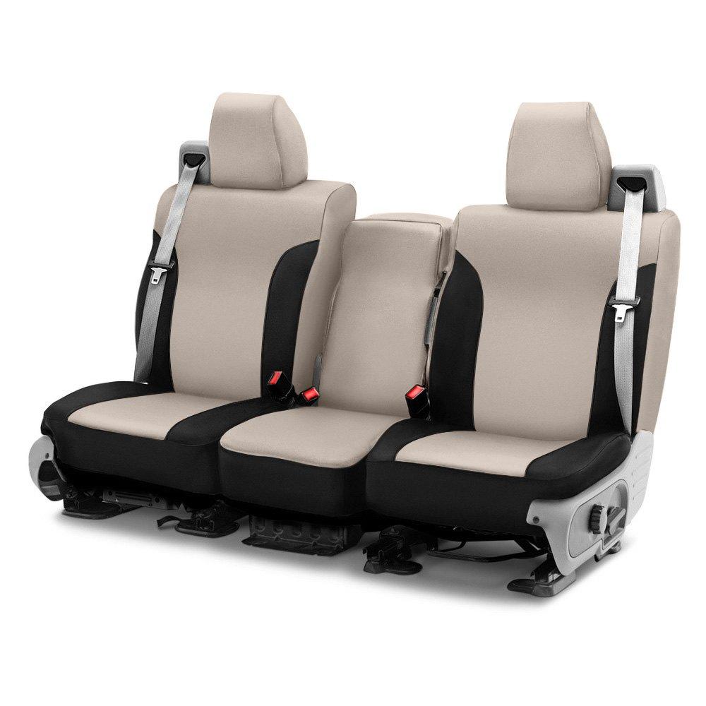 for toyota 4runner 11 18 neoprene 3rd row tan black custom seat covers ebay. Black Bedroom Furniture Sets. Home Design Ideas