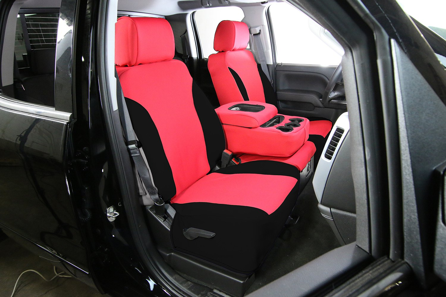Excellent Saddleman Neoprene 1St Or 2Nd Or 3Rd Row Red Black Custom Seat Covers Unemploymentrelief Wooden Chair Designs For Living Room Unemploymentrelieforg