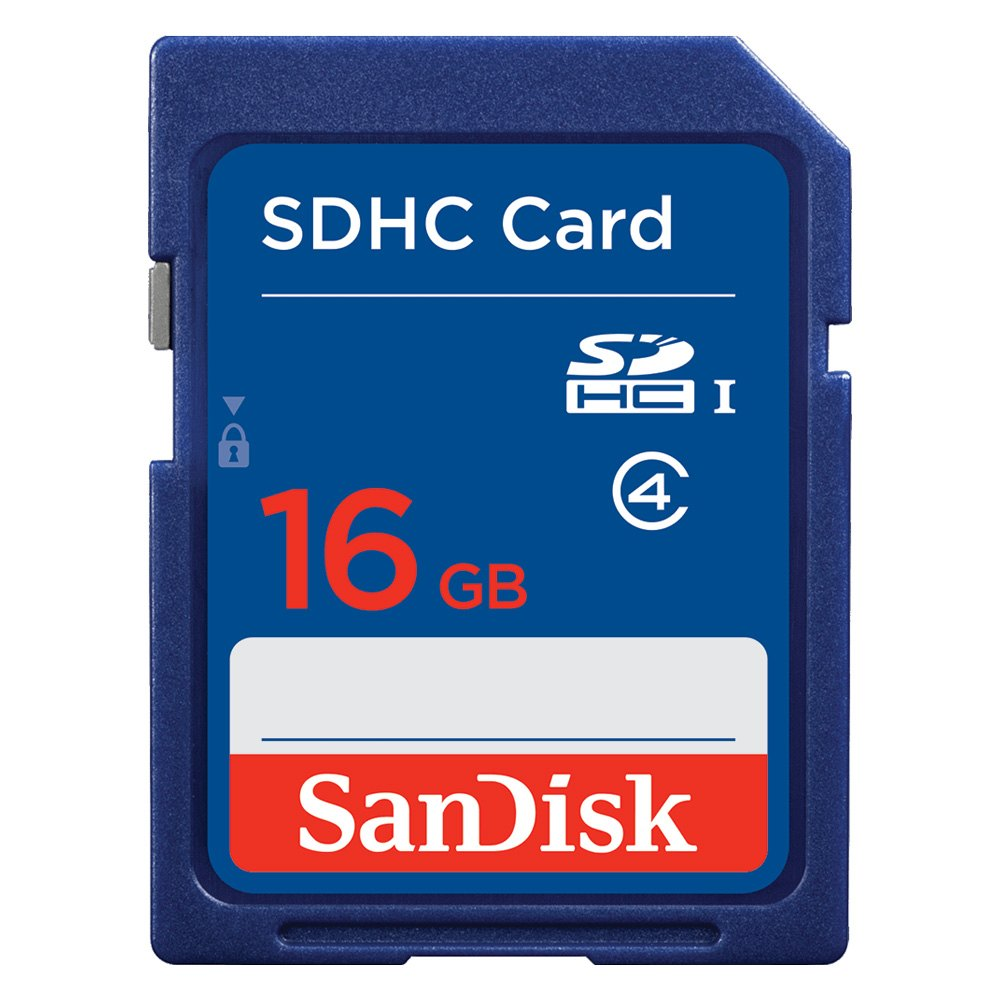 sandisk sdsdb 016g a46 16 gb blue sdhc sdxc class 4 plastic memory card. Black Bedroom Furniture Sets. Home Design Ideas