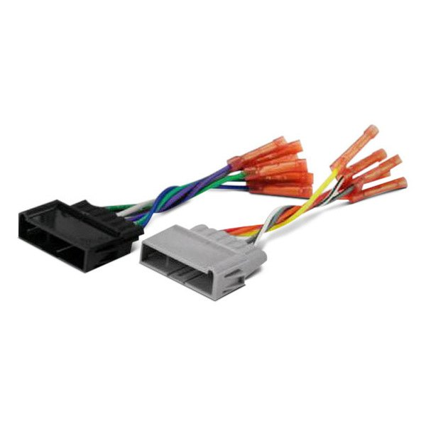 scosche 174 cr01bcb aftermarket radio wiring harness with oem pre terminated with