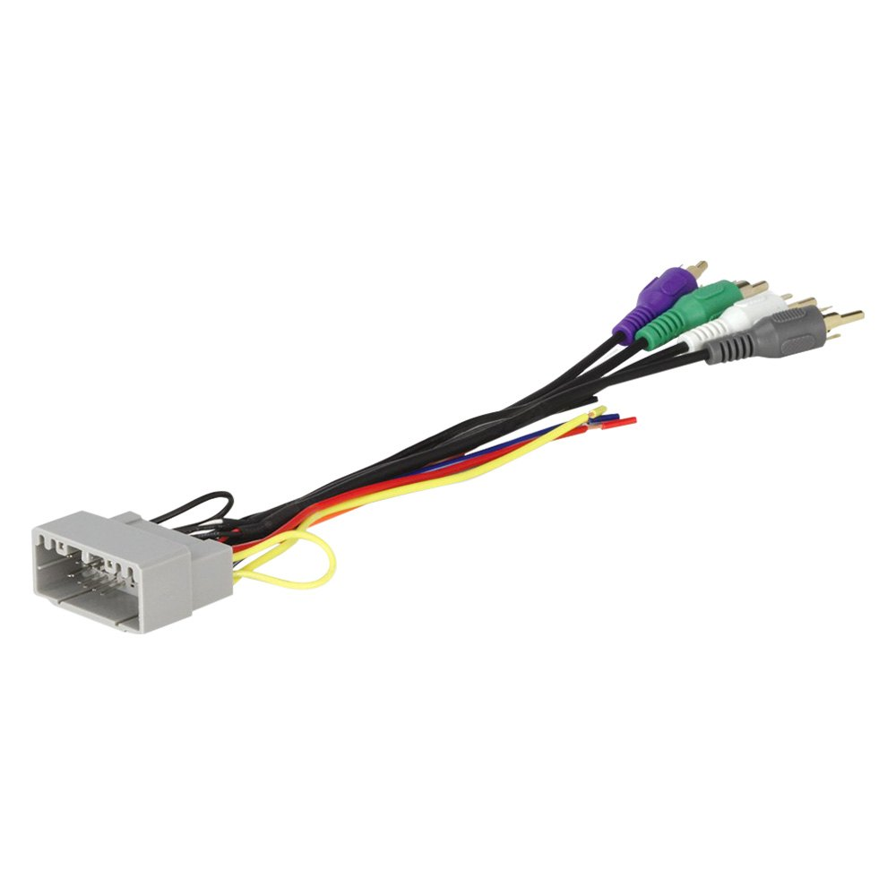 Scosche® - Aftermarket Radio Wiring Harness with OEM Plug and Retain OE  Amplifier