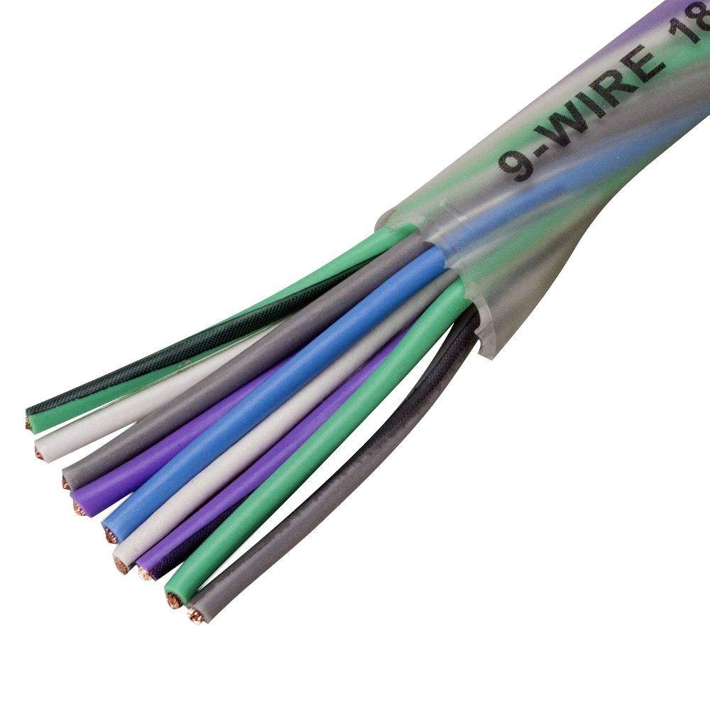 Scosche® EFXS9WC18-12B - 18 Gauge 9-Wire 12\' OFC Ultra-Flex Speaker ...