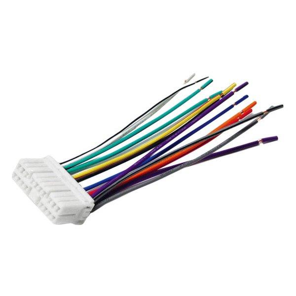 scosche 174 do01rb daewoo lanos 1999 wiring harness with oem radio plugs
