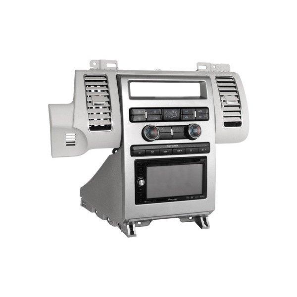 scosche 174 fd1439b ford flex 2009 2012 single din silver stereo dash kit