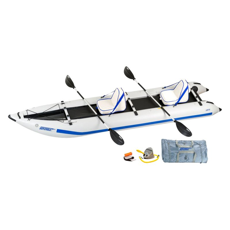 sea eagle 435psk d paddleski inflatable catamaran kayak kit. Black Bedroom Furniture Sets. Home Design Ideas
