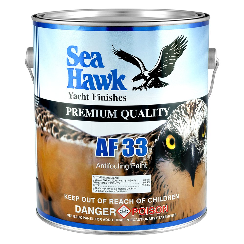 Sea hawk paints 3342qt blue af 33 antifouling paint 1 qt for Seahawk boat paint