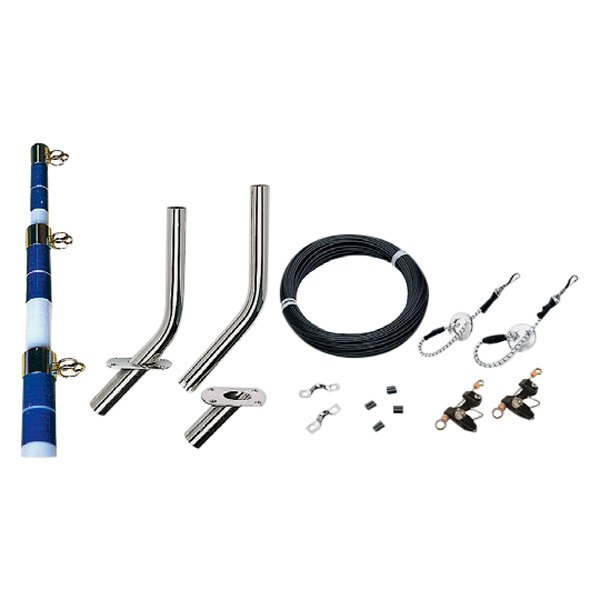 Seachoice 88251 15' White bluee Complete Outrigger  Kit  amazing colorways