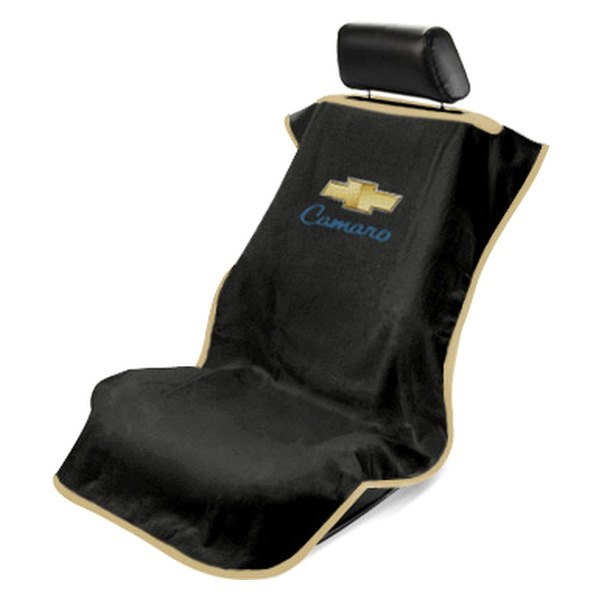 seat armour sa100camb black towel seat cover with old style camaro logo. Black Bedroom Furniture Sets. Home Design Ideas