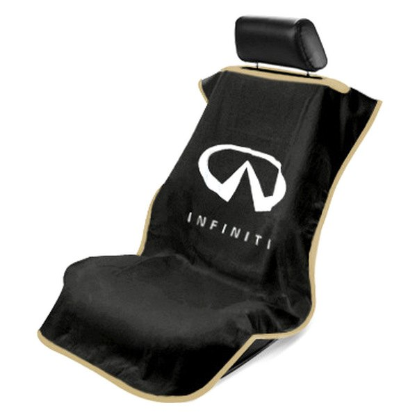 seat armour sa100infb black towel seat cover with infiniti logo. Black Bedroom Furniture Sets. Home Design Ideas