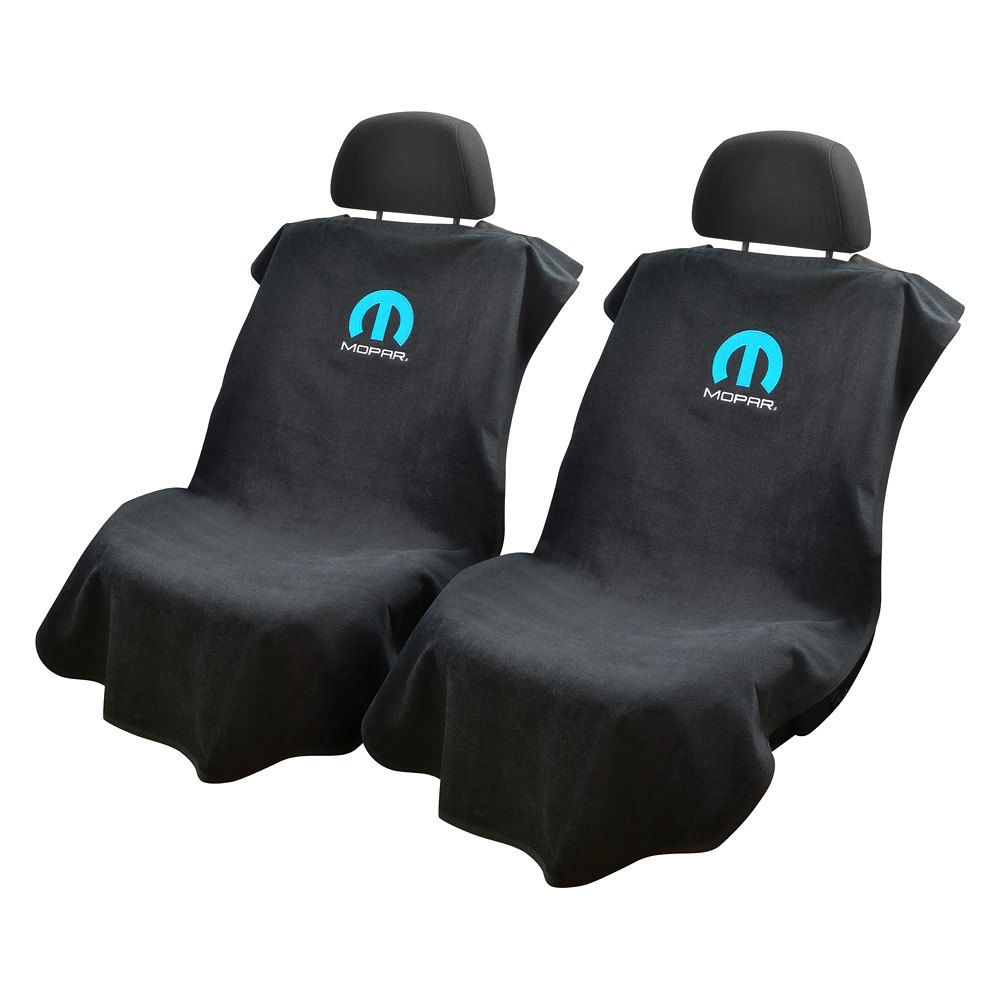 Seat Armour 174 Sa100mopb Black Towel Seat Cover With Mopar