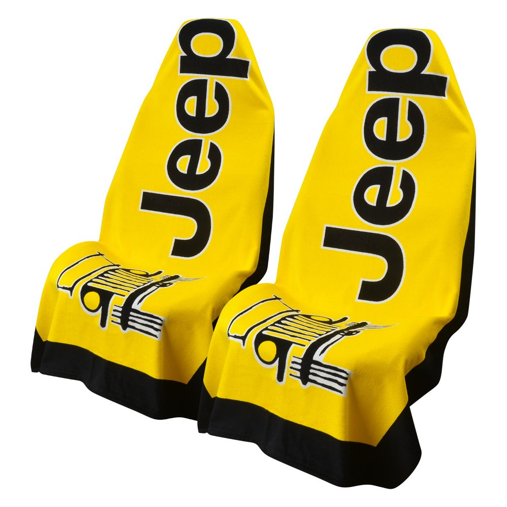 Seat Armour® Towel2Y - Towel 2 Go Yellow Seat Cover with Jeep ...