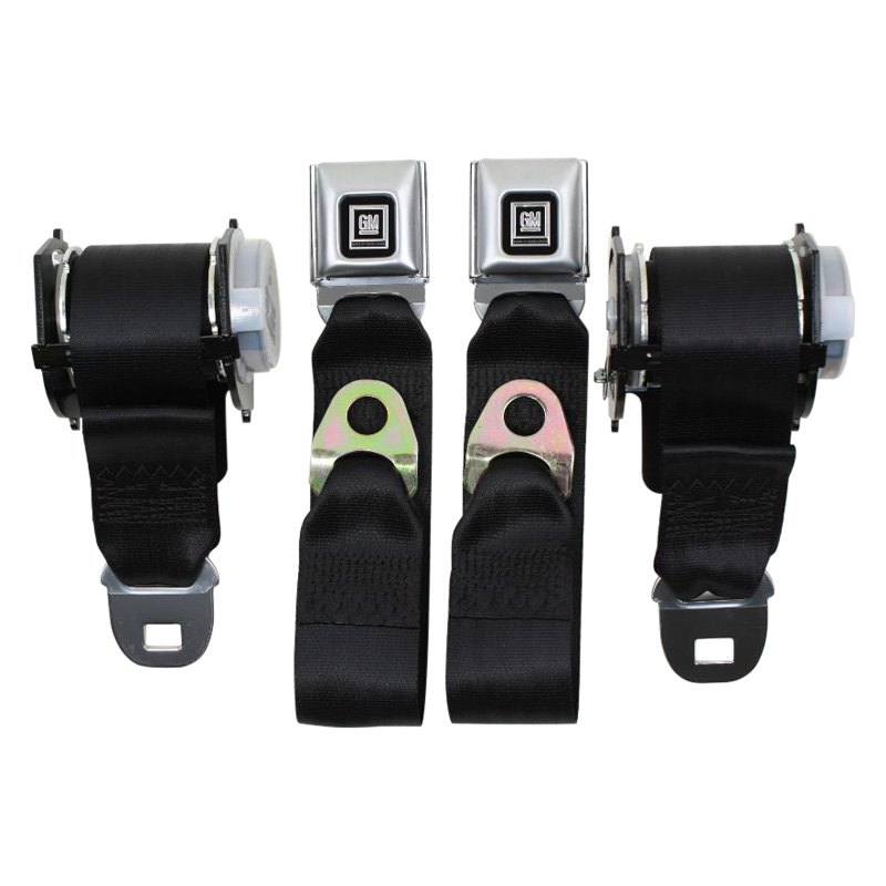 Gray For Chevy Malibu 82-83 2-Point Rear Retractable Seat Belts