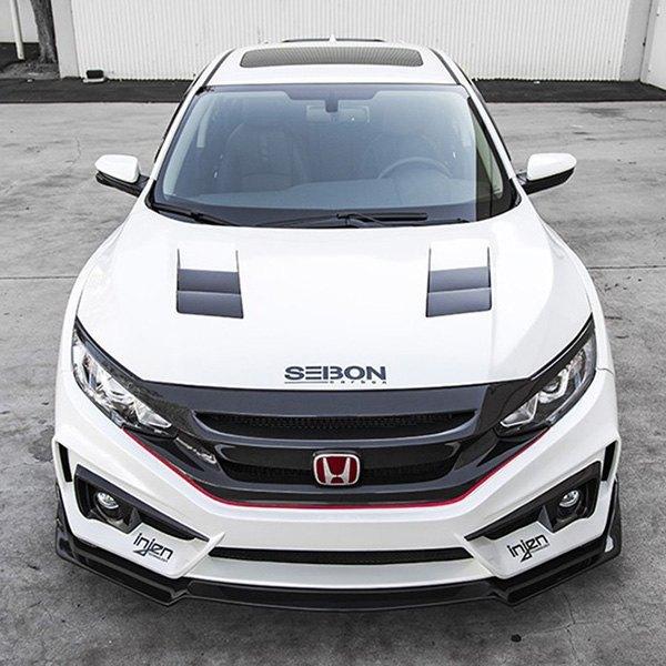 Seibon® - Honda Civic 2017 TS-Style Carbon Fiber Hood