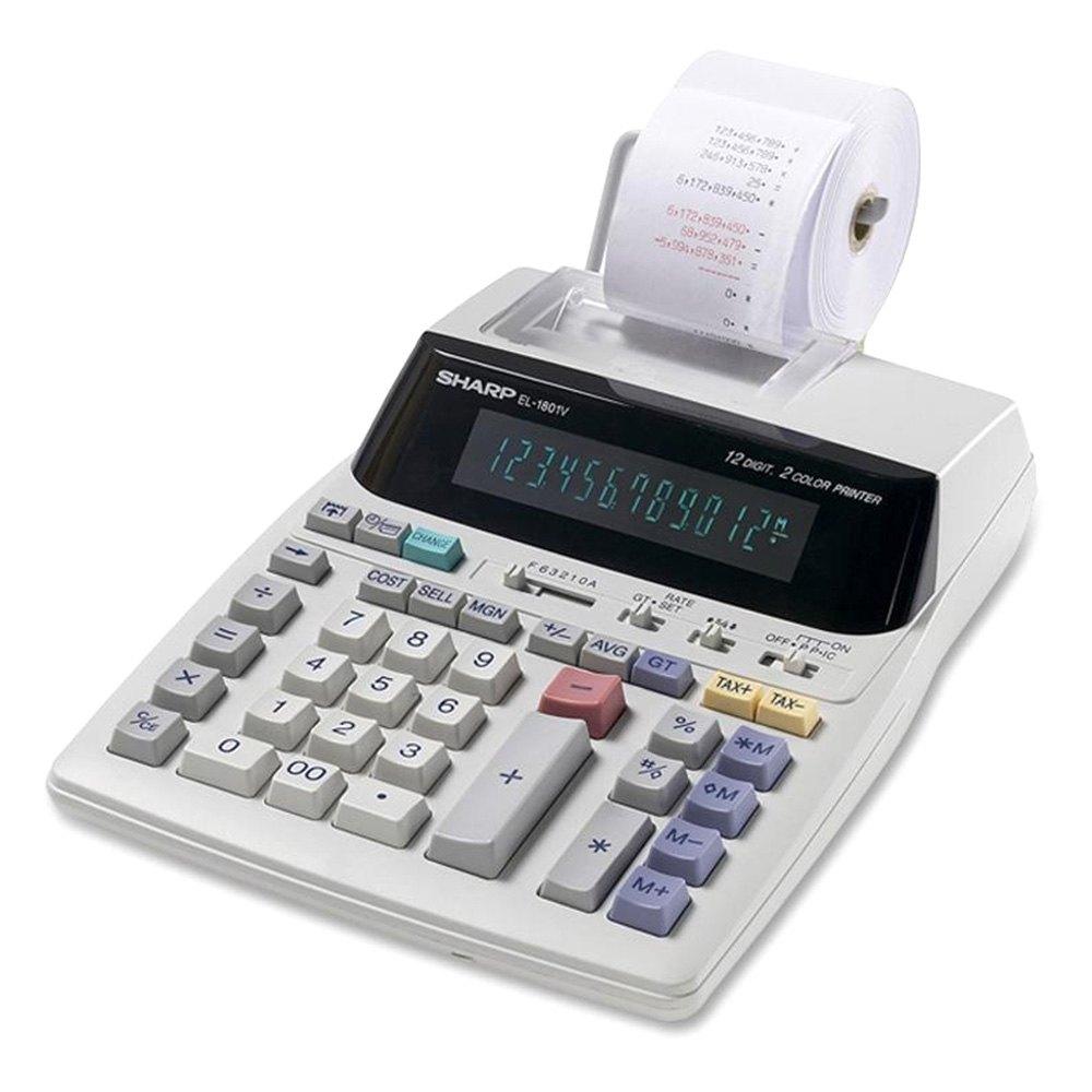 sharp174 el1801v serial printer calculator