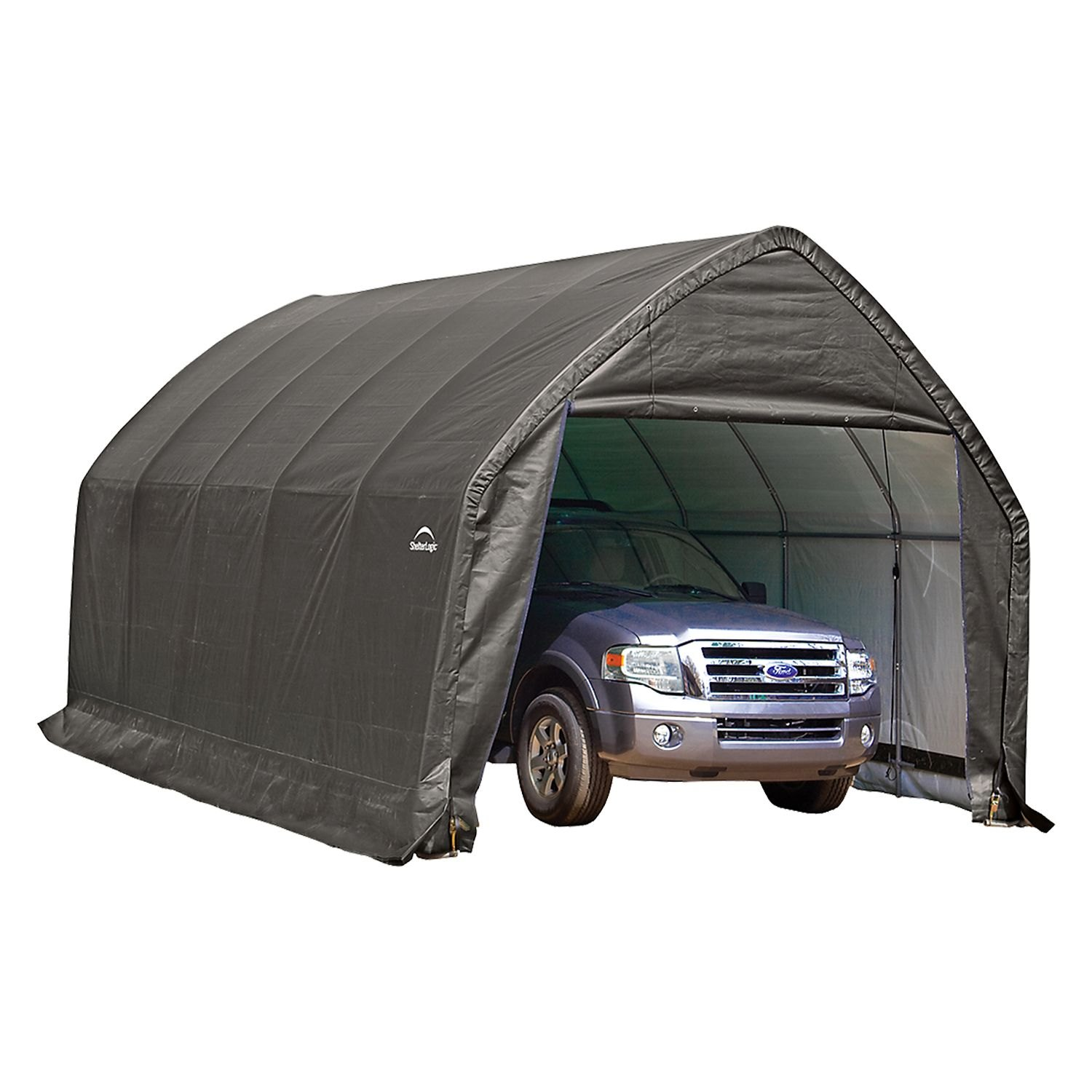 motorcycle canopy gray storage sports x in ft garage shelterlogic metal outdoor a itm box