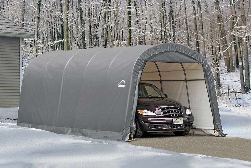 Best Garage In A Box : Shelterlogic garage in a box roundtop™ shelter